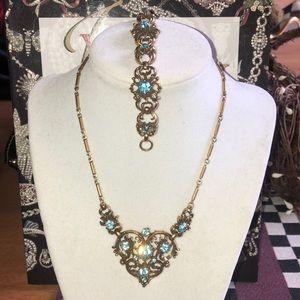 Vintage Coro gold tone Necklace & Bracelet